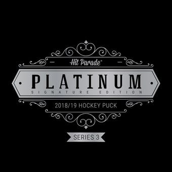 2018/19 Hit Parade Autographed Platinum Hockey Puck Series 3 Hobby 10-Box Case Matthews & Toews!!
