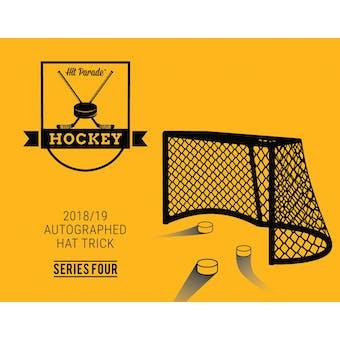 2018/19 Hit Parade Autographed HAT TRICK Series 4 Hockey 3-Box - DACW Live 9 Spot Random Hit Break #3