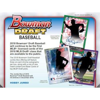 2018 Bowman Draft Baseball Hobby Jumbo Pack