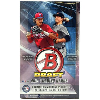 2018 Bowman Draft Baseball Hobby SUPER Jumbo Box
