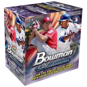 2018 Bowman Platinum Baseball Collector Box