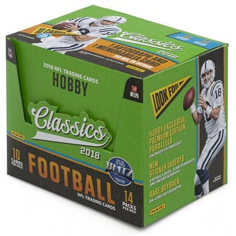 2018 Panini Classics Football Hobby 5-Box- New Year 32 Spot Pick Your Team Break #1