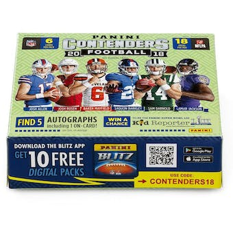2018 Panini Contenders Football Hobby 1st Off The Line FOTL Box