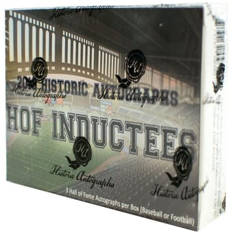 2018 Historic Autograph Hall of Fame Inductees Hobby Box