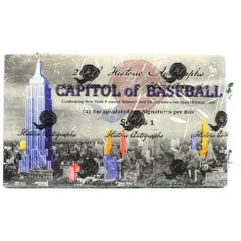 2018 Historic Autographs Capitol of Baseball Hobby Box