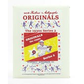 2018 Historic Autographs Originals The 1930's Series 2 Baseball Hobby Box
