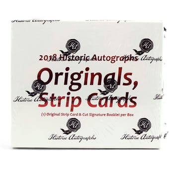 2018 Historic Autographs Originals Strip Cards Baseball Hobby Box