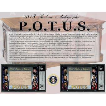 2018 Historic Autograph P.O.T.U.S. (President of the United States) Premium Box