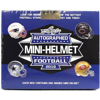 2018 Leaf Autographed Mini-Helmet Edition Football Hobby Box