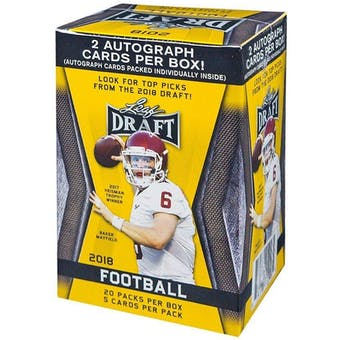 2018 Leaf Draft Football 20-Pack Box (Two Autographs!)