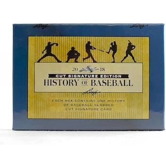 2018 Leaf History of Baseball Cut Signature Edition Baseball Hobby Box