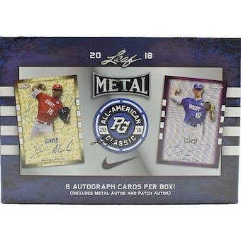 2018 Leaf Metal Perfect Game All-American Baseball Hobby Box
