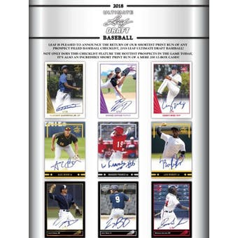 2018 Leaf Ultimate Draft Baseball Hobby Box