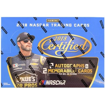 2018 Panini Certified Racing Hobby Box