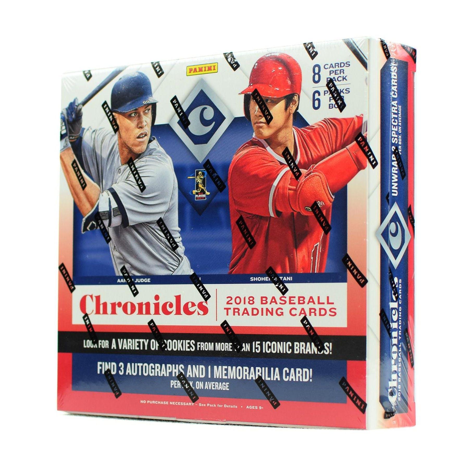 2018 Panini Chronicles Baseball Hobby Box Da Card World