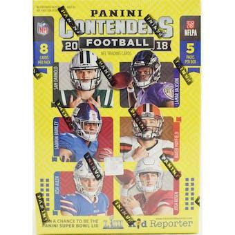 2018 Panini Contenders Football 5-Pack Blaster Box