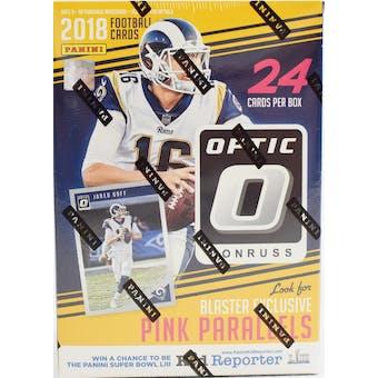 2018 Panini Donruss Optic Football 6-Pack Blaster Box (Yellow)