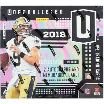 2018 Panini Unparalleled Football Hobby Box
