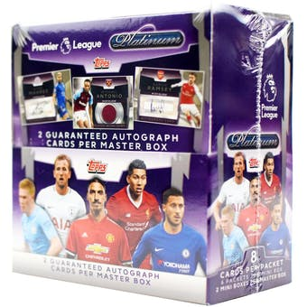 2018 Topps Premier League Platinum Soccer Hobby Box