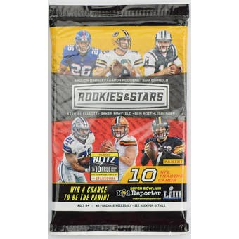 2018 Panini Rookies & Stars Football Retail Pack (Lot of 24)