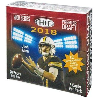 2018 Sage Hit Premier High Series Football Hobby Box