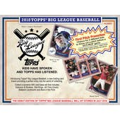 2018 Topps Big League Baseball Hobby Pack