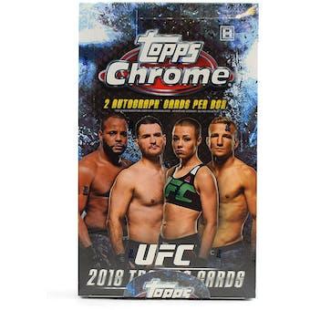 2018 Topps Chrome UFC Hobby Box