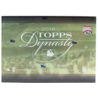 2018 Topps Dynasty Baseball Hobby Box