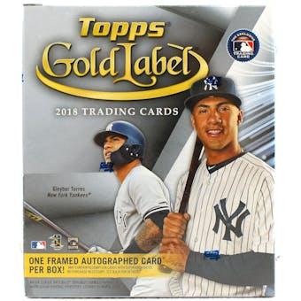 2018 Topps Gold Label Baseball Hobby Box