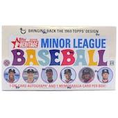 2018 Topps Heritage Minor League Baseball Hobby Box