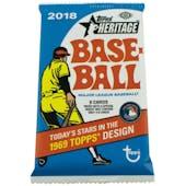 2018 Topps Heritage Baseball Hobby Pack