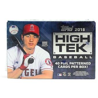2018 Topps High Tek Baseball 12-Box Case- DACW Live 30 Spot Pick Your Team Break #1