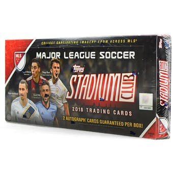2018 Topps Stadium Club MLS Soccer Hobby Box