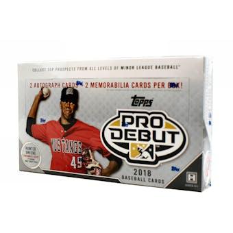 2018 Topps Pro Debut Baseball Hobby Box