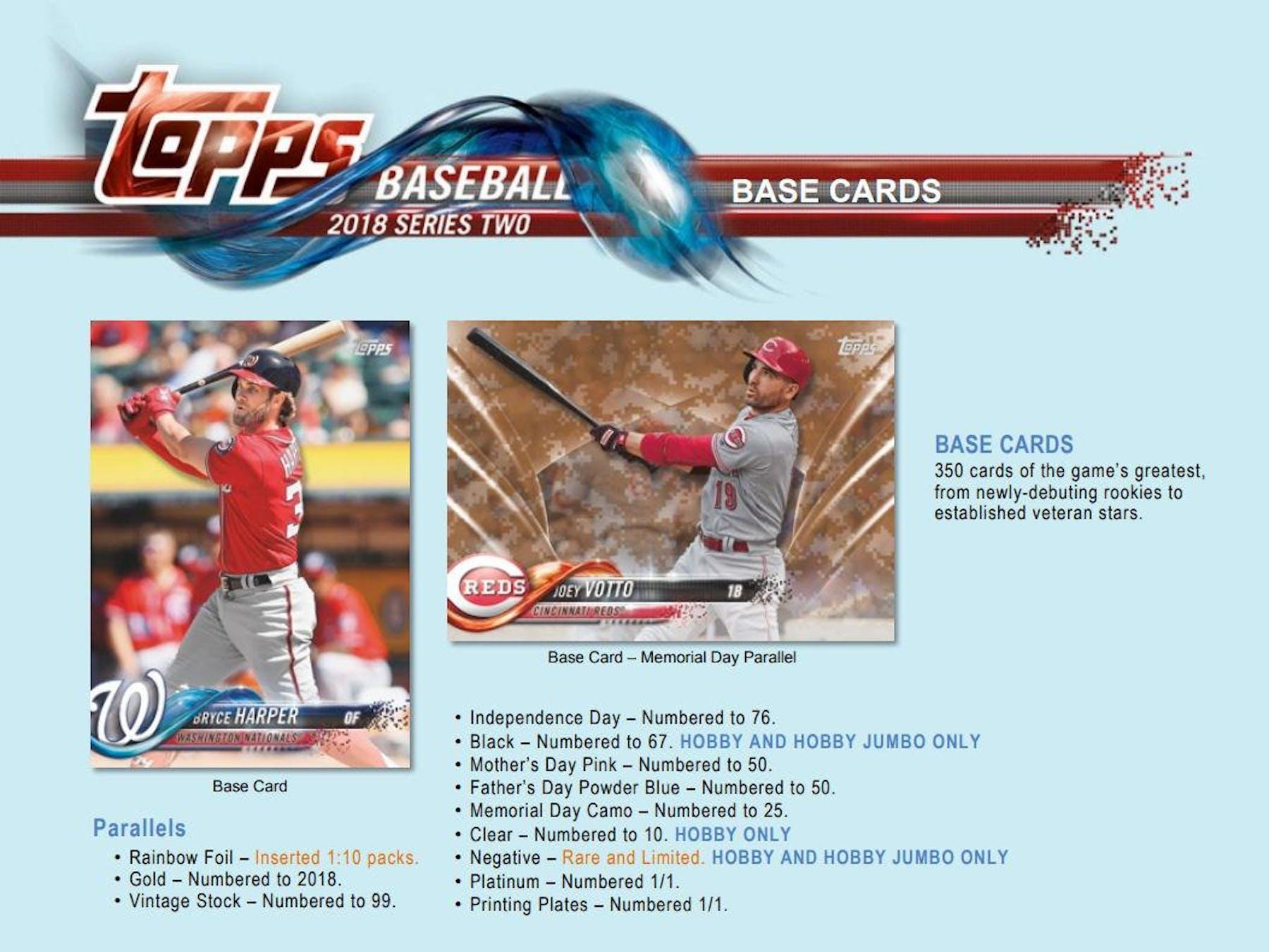 2018 Topps Series 2 Baseball Hobby Box Da Card World