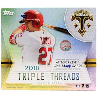 2018 Topps Triple Threads Baseball Hobby 9-Box Case- DACW Live 30 Spot Pick Your Team Break #1