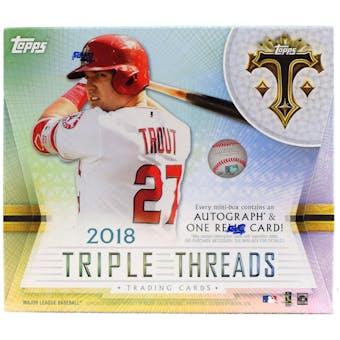 2018 Topps Triple Threads Baseball Hobby 5-Box- 2018 Holiday 30 Spot Pick Your Team Break #1