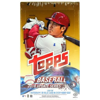 2018 Topps Update Series Baseball Hobby Box