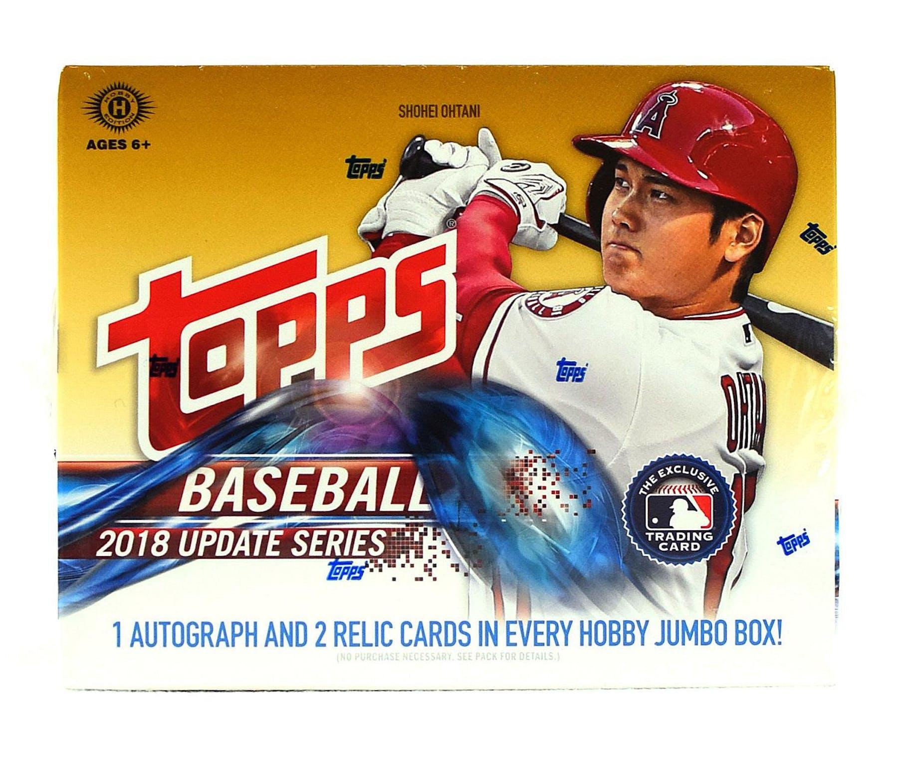 2018 Topps Update Series Baseball Hobby Jumbo Box Da