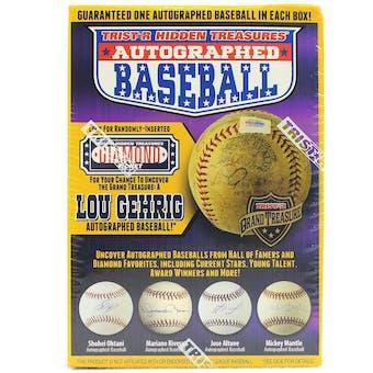 2018 TriStar Hidden Treasures Series 10 Autographed Baseball Hobby Box