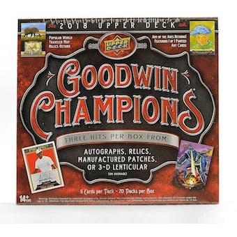 2018 Upper Deck Goodwin Champions Hobby Box