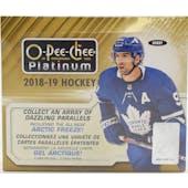 2018/19 Upper Deck O-Pee-Chee Platinum Hockey Hobby Box