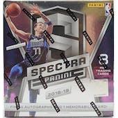 2018/19 Panini Spectra Basketball Hobby Box