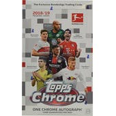 2018/19 Topps Chrome Bundesliga Soccer Hobby Box