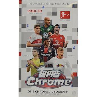 2018/19 Topps Chrome Bundesliga Soccer Hobby Box