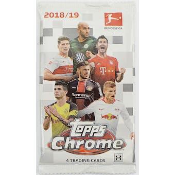 2018/19 Topps Chrome Bundesliga Soccer Hobby Pack