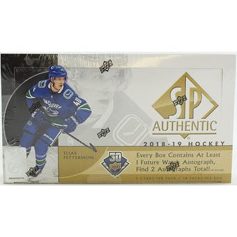 2018/19 Upper Deck SP Authentic Hockey Hobby Box