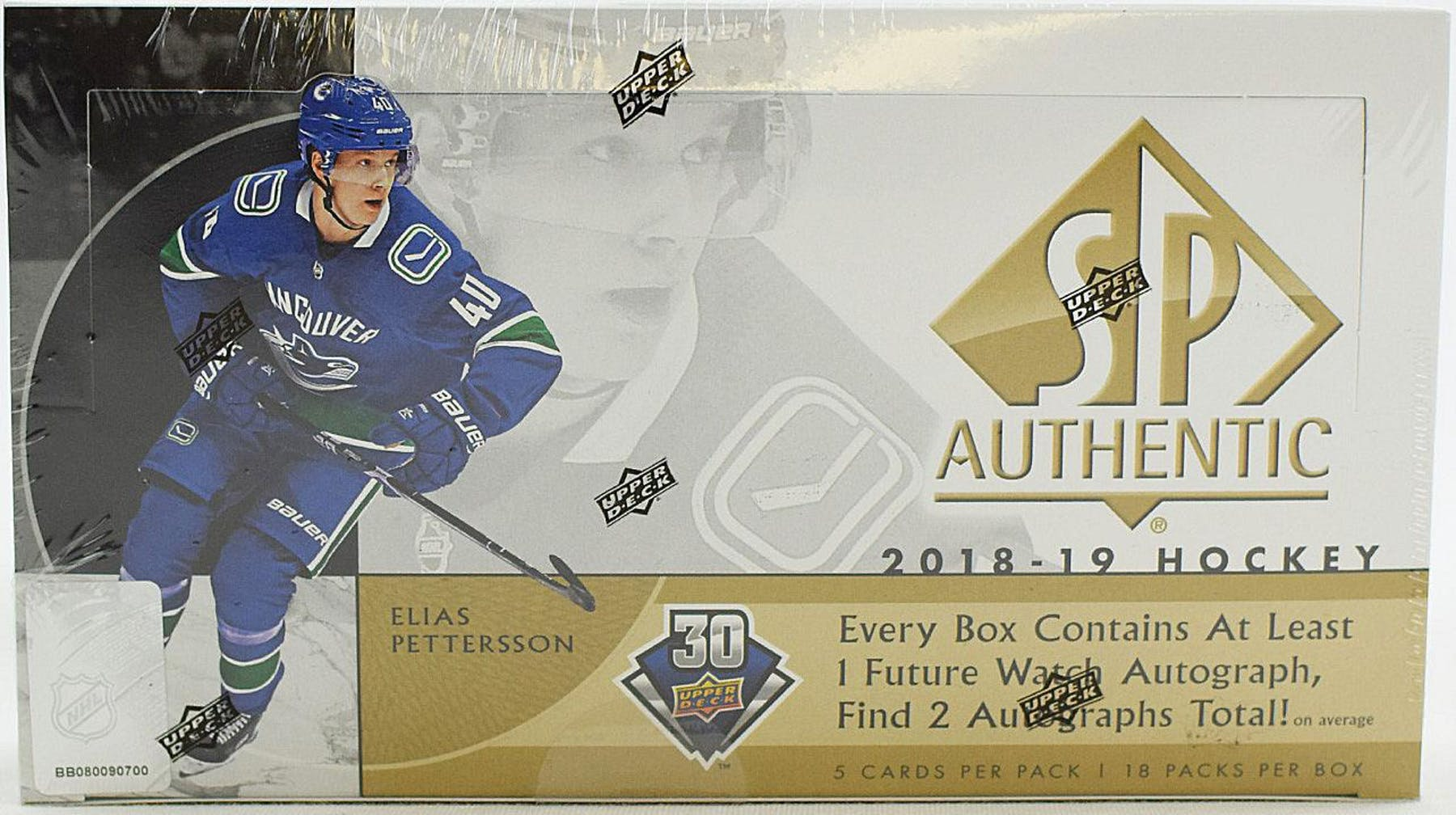 f27d7518 2018/19 Upper Deck SP Authentic Hockey Hobby Box