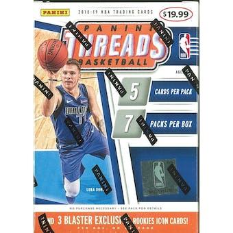 2018/19 Panini Threads Basketball 7-Pack Blaster Box