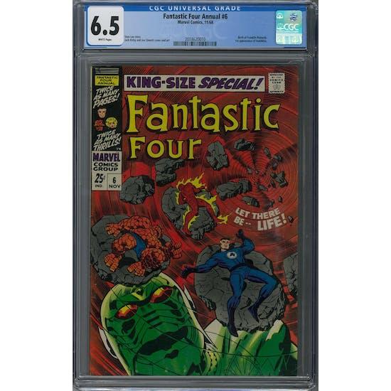 Fantastic Four Annual #6 CGC 6.5 (W) *2018620010* 150+ Issue Comic Lot